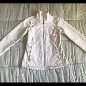 The North face white coat.